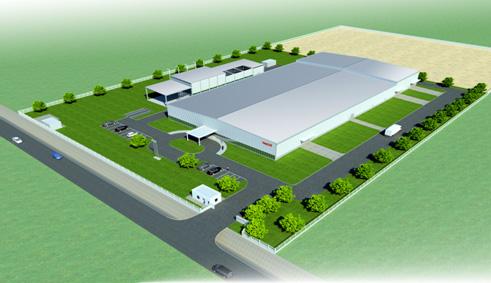 不二越の新工場完成予想図